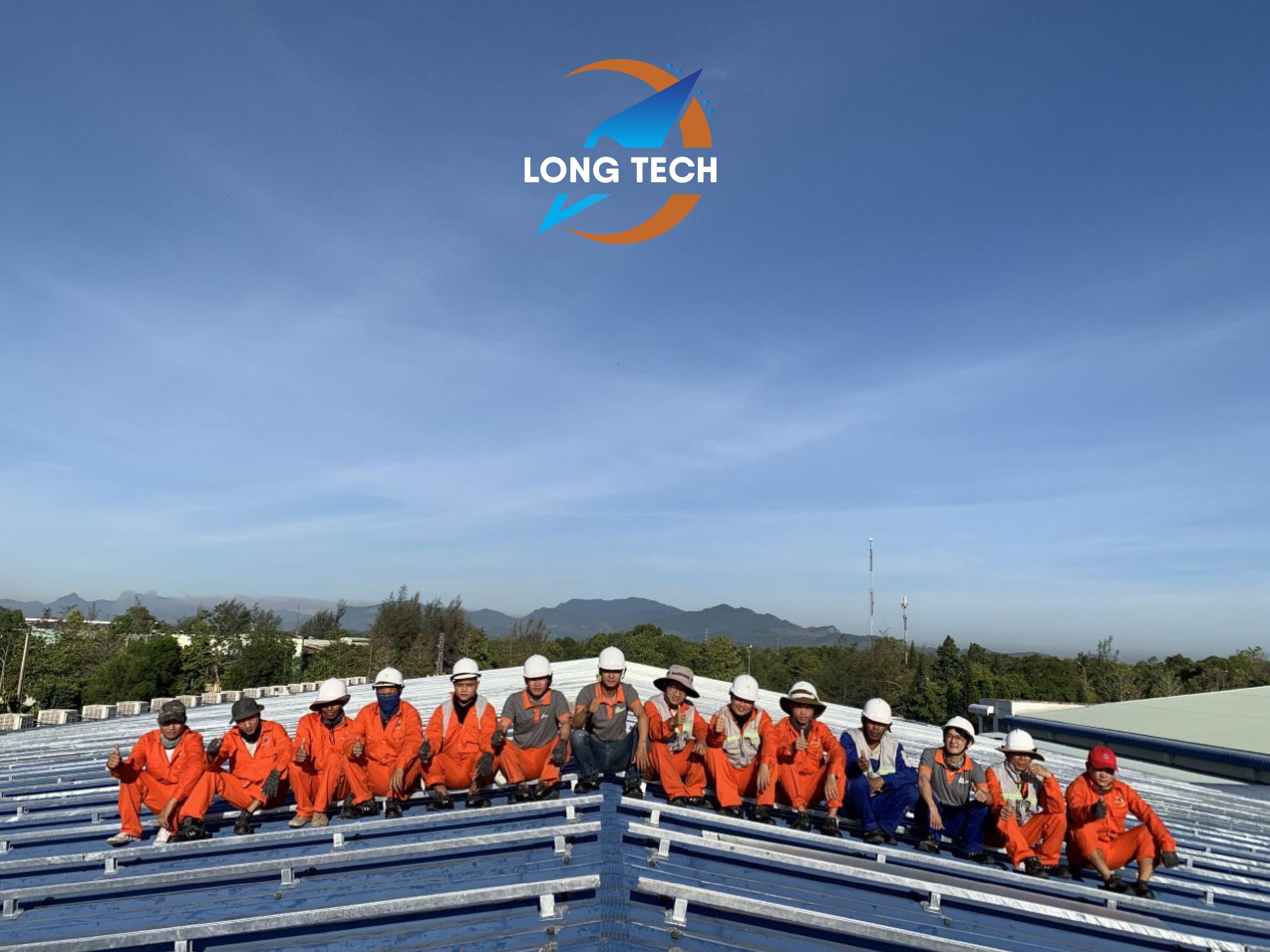 Long Tech tổng thầu EPC dự án Điện mặt trời áp mái Nhà Máy May Dung Quất 1MW