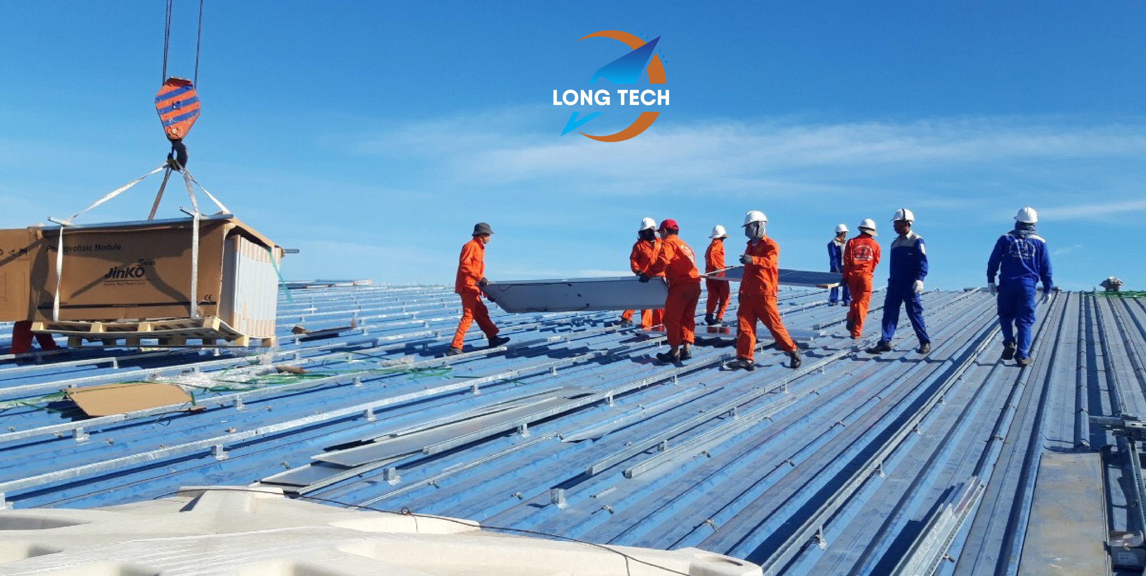 dự án Điện mặt trời áp mái Nhà Máy May Dung Quất 1MW