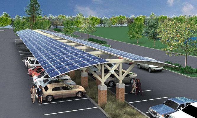 Bãi đổ xe năng lượng mặt trời