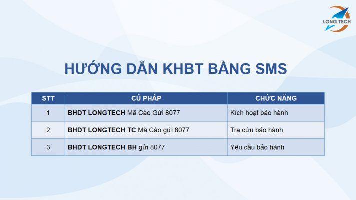 Kích hoạt bảo hành điện tử bằng SMS